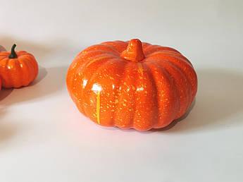 Муляжи продуктов. Искусственная тыква для декора. 20 см. Осенний декор.