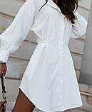 Стильное платье рубашечного кроя и отрезное по талии с длинным рукавом, 2 цвета.. Р-р 42-44,46-48  Код 5158Ж, фото 2