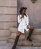 Стильное платье рубашечного кроя и отрезное по талии с длинным рукавом, 2 цвета.. Р-р 42-44,46-48  Код 5158Ж, фото 3