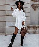 Стильное платье рубашечного кроя и отрезное по талии с длинным рукавом, 2 цвета.. Р-р 42-44,46-48  Код 5158Ж, фото 4