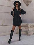 Стильное платье рубашечного кроя и отрезное по талии с длинным рукавом, 2 цвета.. Р-р 42-44,46-48  Код 5158Ж, фото 5
