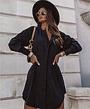 Стильное платье рубашечного кроя и отрезное по талии с длинным рукавом, 2 цвета.. Р-р 42-44,46-48  Код 5158Ж, фото 7