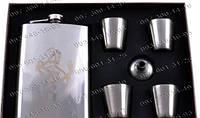 Подарочные Наборы Moongrass 6в1 AL-109 Фляжка Металлическая Фляга+4 стопки+лейка Подарочные наборы для мужчин