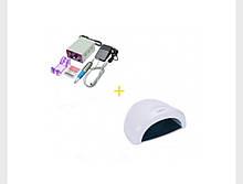 Набор Лампа Sun 1 48 Вт UV LED и и Фрезер Lina Mercedes 25000