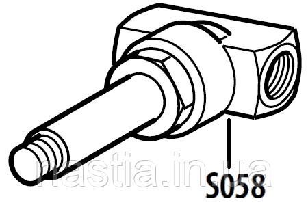 S058 Корпус электроклапана, на 2 входи, Simonelli