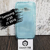 Силиконовый чехол для Samsung J1 2016 (J120) Синий, фото 1