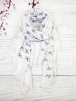 Тонкий шарф Fashion Вивьен из вискозы 180*80 см белый