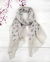 Тонкий шарф Fashion Вивьен из вискозы 180*80 см серый