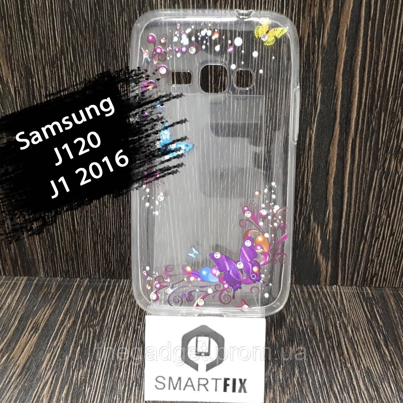Чехол с рисунком для Samsung J1 2016 (J120) Разные рисунки