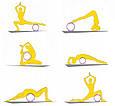 Колесо для йоги, рожево-бірюзове, йога-колесо, фото 3