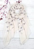 Тонкий шарф Fashion Вивьен из вискозы 180*80 см бежевый