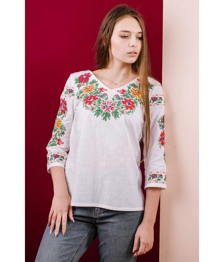 Українська святкова вишиванка. Вишиванка жіноча. Машинна вишивка.
