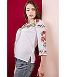 Українська святкова вишиванка. Вишиванка жіноча. Машинна вишивка., фото 2