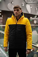 """Демисезонная куртка """"Temp"""" бренда Intruder желто- черная"""