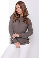 Жіночий вязаний джемпер з ажуром, фото 1