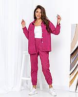 Вельветовый костюм женский Розовый