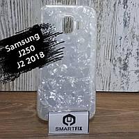 Силиконовый чехол для Samsung J2 2018 (J250) Серебристый