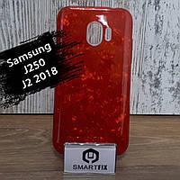 Силиконовый чехол для Samsung J2 2018 (J250) Красный