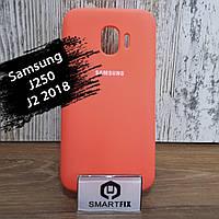 Силиконовый чехол для Samsung J2 2018 (J250) Soft Розовый