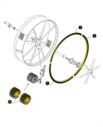 84449076, Щітка радіатора, CR/CX/CS