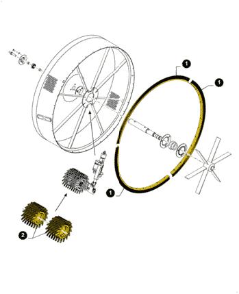 84449076, Щітка радіатора, CR/CX/CS, фото 2