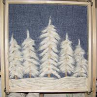 """Картина """"Еловый лес зимой"""""""