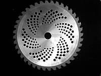 Нож (диск,фреза) для мотокосы с победитовой напайкой 40 зубъев