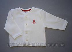 Белая хлопковая кофта на пуговицах для новорожденных (Zeyno&Memo, Турция)
