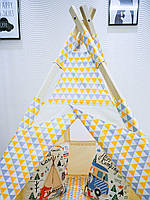 Детская палатка-вигвам + коврик - Кристалы