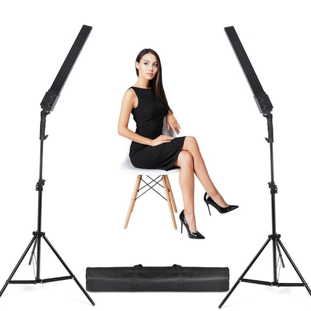 480Вт Набор постоянного света Visico MS-30LS-2 Double Kit для предметной, портретной фото либо видео съёмки