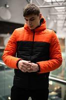 """Демисезонная куртка """"Temp"""" бренда Intruder оранжево - черная"""