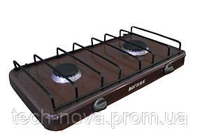 Газовая плитка настольная Вогник ПГ2-Н  (2 конфорки, коричневый)