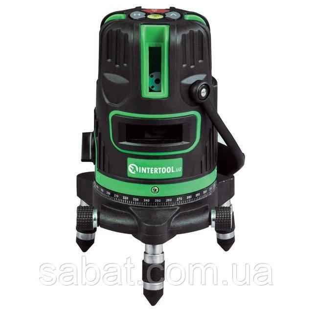 Уровень лазерный 5 лазерных головок Intertool MT- 3008