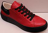 Кроссовки кожаные женские на шнурках от производителя модель КИС13, фото 5