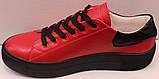 Кроссовки кожаные женские на шнурках от производителя модель КИС13, фото 3