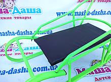 Детские санки металлические с мягким сиденьем и ручкой для родителей, фото 2