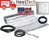 Алюминиевый мат для теплого пола HeatTech (США) HTALMAT 150 Вт 1,0м.кв. Комплект с терморегулятором