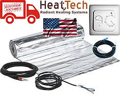 Алюминиевый мат для теплого пола HeatTech (США) HTALMAT  525Вт 3,5м.кв. Комплект с терморегулятором