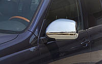 Хромированные накладки на зеркала для Toyota Land Cruiser Prado 120, фото 1