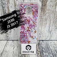 Переливається чохол для Samsung J3 2017 (J330) Біла ромашка, фото 1