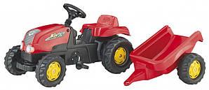 Трактор з причеп Trailer червоний 12121