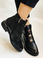Polann. Женские осенние ботинки на среднем каблуке. Натуральная кожа. Р. 35, 37, 38, 39 40.Vellena, фото 6
