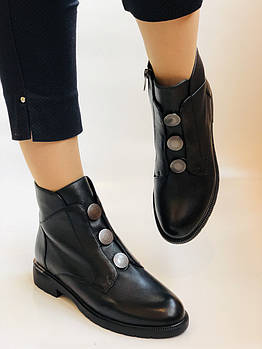 Polann. Женские осенние ботинки на среднем каблуке. Натуральная кожа. Р. 35, 37, 38, 39 40.Vellena