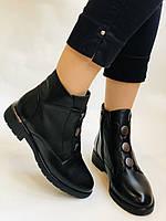 Polann. Женские осенние ботинки на среднем каблуке. Натуральная кожа. Р. 35, 37, 38, 39 40.Vellena, фото 4