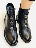 Polann. Женские осенние ботинки на среднем каблуке. Натуральная кожа. Р. 35, 37, 38, 39 40.Vellena, фото 7
