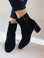 Жіночі черевики. На середньому каблуці. Натуральний замш.Висока якість. Erisses. Р. 35.37.38.39.40.Vellena, фото 3