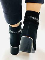 Жіночі черевики. На середньому каблуці. Натуральний замш.Висока якість. Erisses. Р. 35.37.38.39.40.Vellena, фото 10