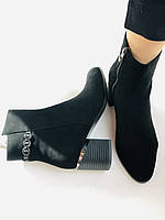 Жіночі черевики. На середньому каблуці. Натуральний замш.Висока якість. Erisses. Р. 35.37.38.39.40.Vellena, фото 7