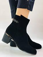 Женские ботинки. На среднем каблуке. Натуральный замш.Высокое качество. Erisses. Р. 35.37.38.39.40.Vellena, фото 5