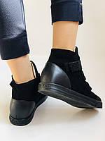 Женские ботинки. На скрытой танкетке. Натуральная кожа. Высокое качество. Berkonty. Р. 37,39,40. Vellena, фото 3